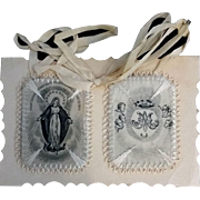 Large Embroidered Scapular with  Miraculous Medal