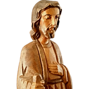 Hand-carved Jesus the Light of the World statue