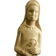 Unique African Madonna and Child Sculpture - Red Tag Sale Item