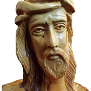 Olive Wood Christ Sculpture from Bethlehem