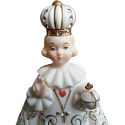 Bejewelled Porcelain Infant of Prague