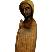 Hand Carved Blessed Virgin Mary Statue