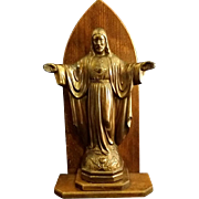 Sacred Heart Statue with Arma Christi