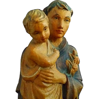 Wood Saint Anthony Statue