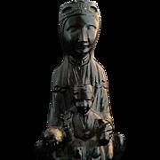 Black Madonna of Montserrat Statue