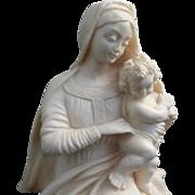 Alabaster Madonna & Child