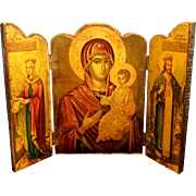 Greek Icon Triptych