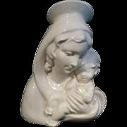 Mid-Century Madonna & Child Statue