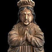 Painted Wood Madonna Santo
