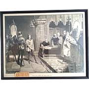 Framed Print of the Trial of Joan of Arc