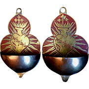 Set of Sacred Heart Holy Water Fonts