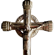 Large Crucifix Holy Water Font