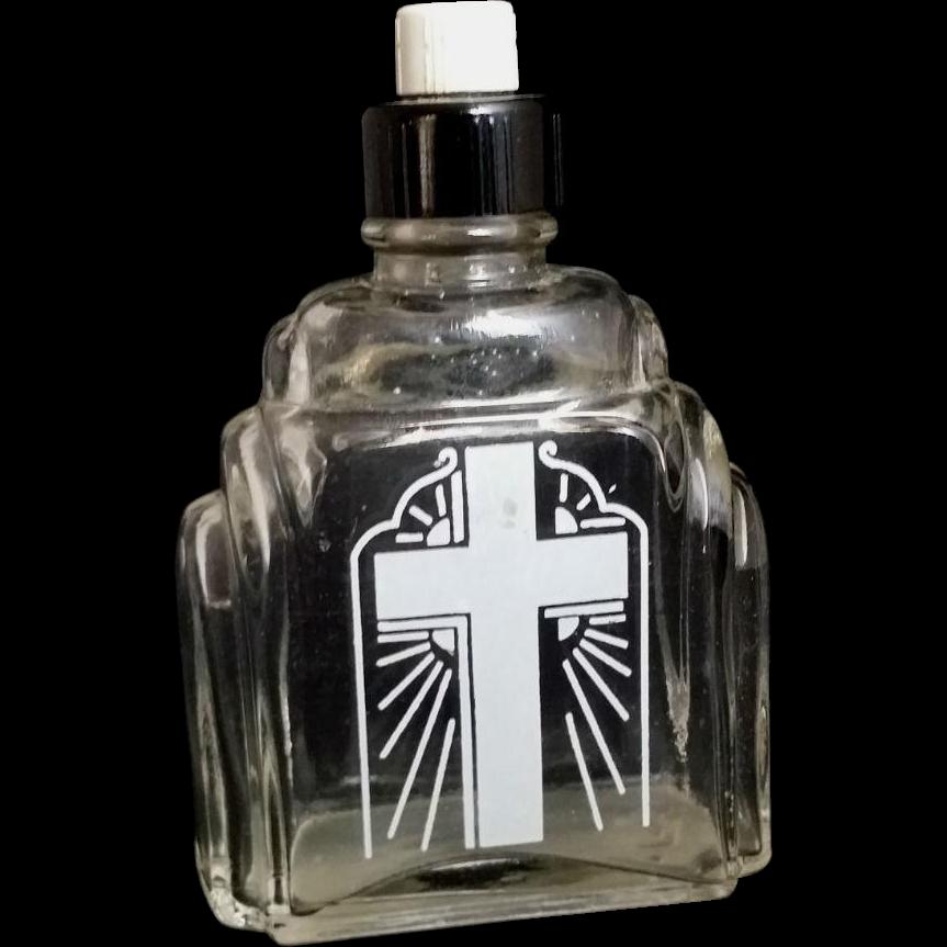 Holy Water Bottle With Bakelite Cap From Vintagecatholic