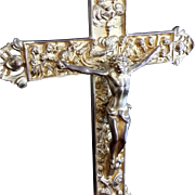 Crucifix with the Apostles Holy Water Font by Ronson