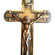 Brass Art Deco Holy Water Font