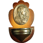 Madonna with Lilies Holy Water Font