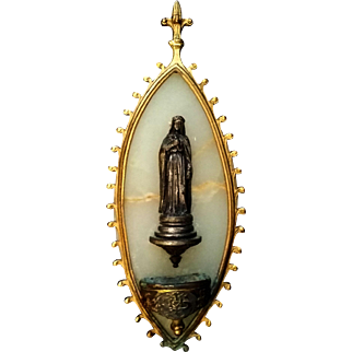 Onyx Saint Therese of Lisieux Holy Water Font