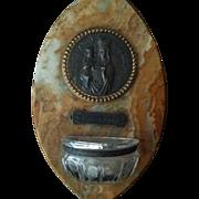 Marble Saint Anne de Beaupre Holy Water Font