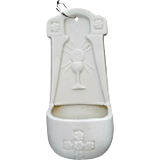 Porcelain Holy Communion Holy Water Font