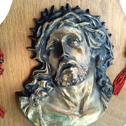 Christ with Crown of Thorns Holy Water Font