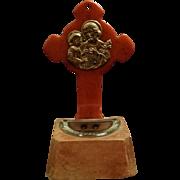 Bakelite Christ & Saint Joseph Holy Water Font