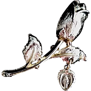 Rosebud Brooch with Miraculous Medal