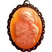 Madonna & Child Shell Cameo