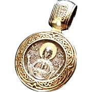 Russian Blessed Virgin Mary & St. Seraphim of Sarov Pendant