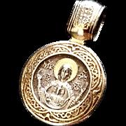 Russian Blessed Virgin Mary & St. Seraphim of Sarov Pendant