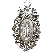 Sterling Miraculous Medal with Marcasite