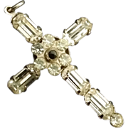 Rhinestone Stanhope Cross with Secret Lord's Prayer