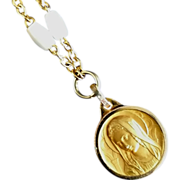 Mother of Pearl Bracelet or Choker with Marian Pendant