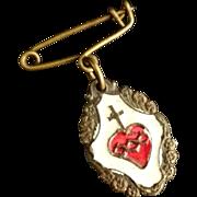 Italian Sacred Heart Pin