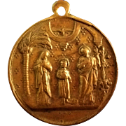Bronze Dutch Holy Family Medal