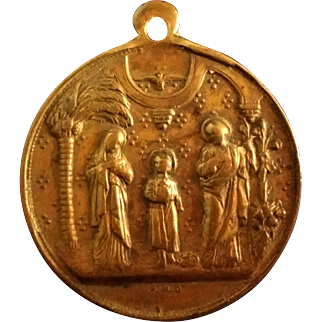 Bronze Dutch Holy Family Medal