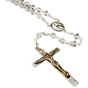 Faceted Crystal Bead Rosary