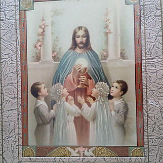 1930's Remembrance of First Holy Communion Keepsake