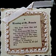 Blessing of Saint Francis Keepsake