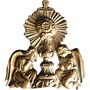 Antique Brass Angels in Adoration