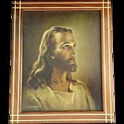 "Warner Sallman ""Head of Christ"" Lithograph & Last Rites Set"
