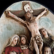Antique 12th Station of the Cross: Jesus Dies on the Cross