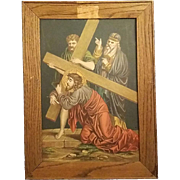 Fifth Station of the Cross - Simon of Cyrene Helps Jesus Carry His Cross