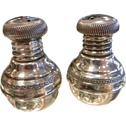 Fine Hallmarked Middle Eastern Sterling Silver Shaker Set