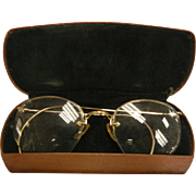 Vintage Gold-Filled Eye Glass Frames w/ Case