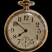 Vintage Gold Filled SOUTH BEND Watch Co. 9 Jewel Pocket Watch
