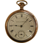 Vintage Rolled Gold Columbus Watch Co. Pocket Watch