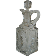 Vintage Cut Lead Crystal Decanter