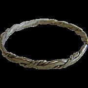Handmade Mexican Vintage Sterling Silver Bangle Bracelet