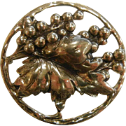 Vintage Danecraft Sterling Silver Grape Bunch Brooch