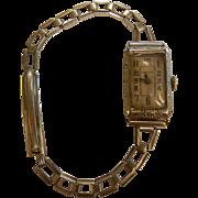 Vintage Gruen 14K Rolled White Gold Ladies Wrist Watch